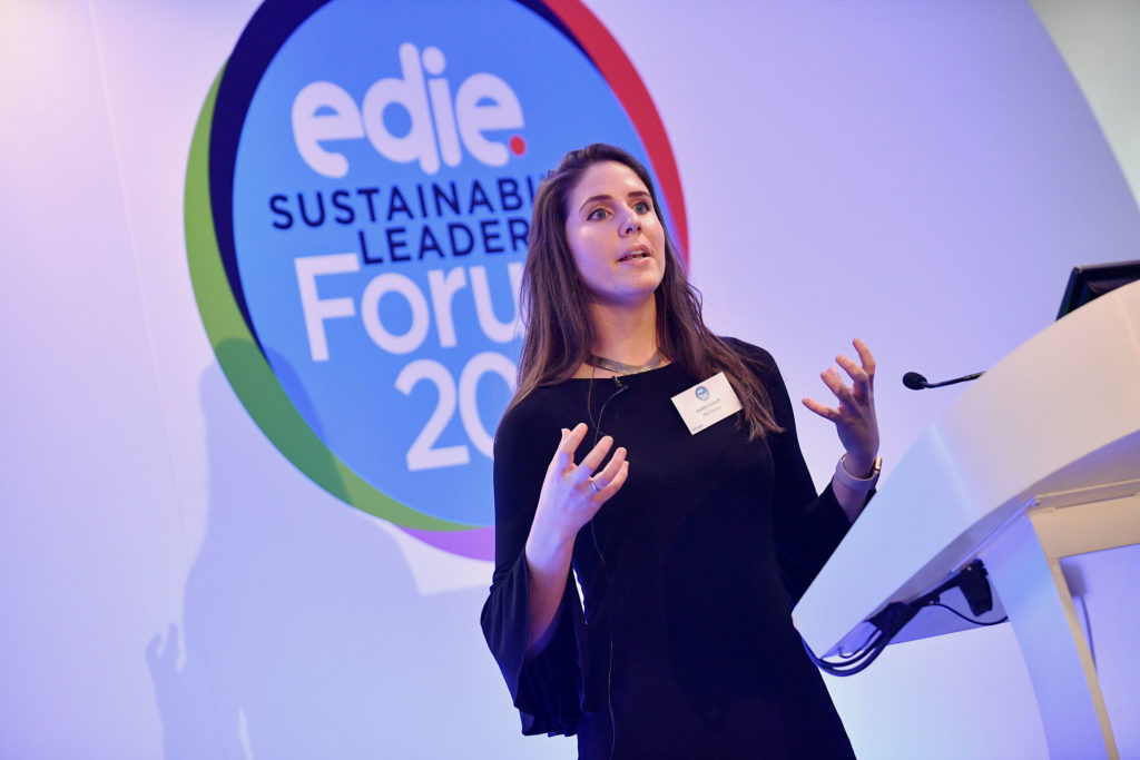 Kaitlin Crouch (ING Global). Edie Sustainability Leaders Forum 2018.