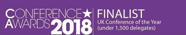 We've been shortlisted for best UK conference!